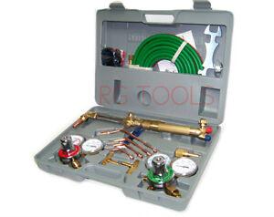 Oxygen-Acetylene-Welding-Cutting-Torch-Kit-Harris-type-w-goggles-tips-burner