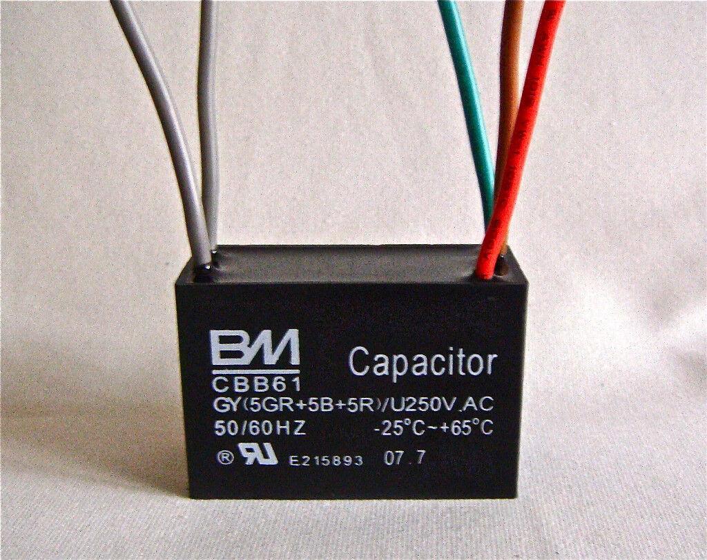 Ceiling Fan Capacitor Cbb61 5uf 5uf 5uf 5 Wire Ebay