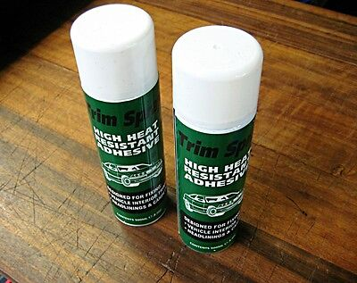 2 x Trim Spray Heavy Duty Heat Resistant Adhesive Glue 500ml - High Temperature