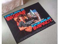 Double Impact - Jean Claude Van Damme Original UK Quad Poster rare