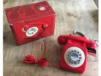 **BNIB** WILD & WOLF 746 Phone, 1960's Design Classic, Phone Box Red.