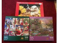 3 BOXES OF JIGSAW PUZZLES