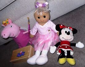 Peppa Pig Fairy - Minnie Mouse - Maria - Peppa Pig Dominoes - £20 the lot