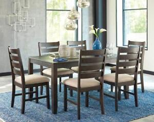 Rokane Dining Table Set - NOW ONLY 799!!! - FREE DELIVERY AND IN HOME SET-UP IN CALGARY