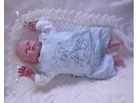 """Reborn baby doll / very cute 17"""" preemie reborn doll fully painted in GHSP"""