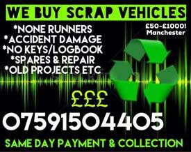 Spares & Repair Mot Failures None Runners Scrap Vehicles Wanted