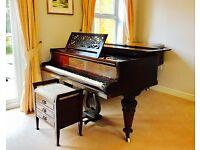 Full size Grand Piano, Collard & Collard including piano stool.