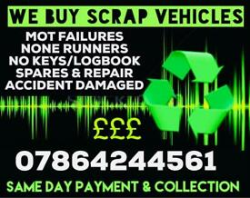 SCRAP MY CAR MANCHESTER - BEST PRICE PAID - WE BUY SCRAP CARS - SCRAP CARS WANTED! SPARES & REPAIR