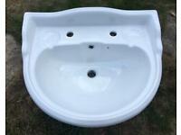Victoria Plumbing bathroom sink and pedestal