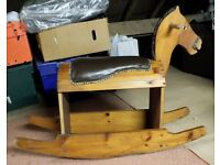 Very old wooden Rocking Horse.