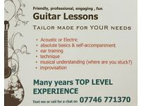 Guitar Lessons with a difference! Professional musician now offers finely tuned lessons in Hove.