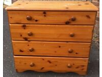 Solid Pine 4 Drawer Chest