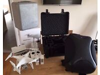DJI Phantom 4 complete with hard case and backpack and extra intelligent battery
