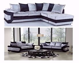 VERY CHEAP PRICE****BRAND NEW DINO DIAMOND CRUSHED VELVET SOFA AVAILABLE IN DIFFERENT COLOURS