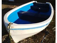 8ft GRP Dinghy with Launching Trolley and Yamaha Malta 3hp Outboard Motor