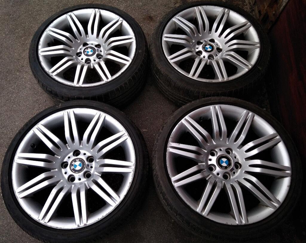 12c54c5a1f55 R19 Genuine OEM BMW E60 M-sport Alloys with Tyres - Spyders!