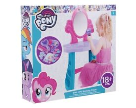 Toys / MY LITTLE PONY VANITY TABLE DRESSING TABLE , NEW AND UNUSED