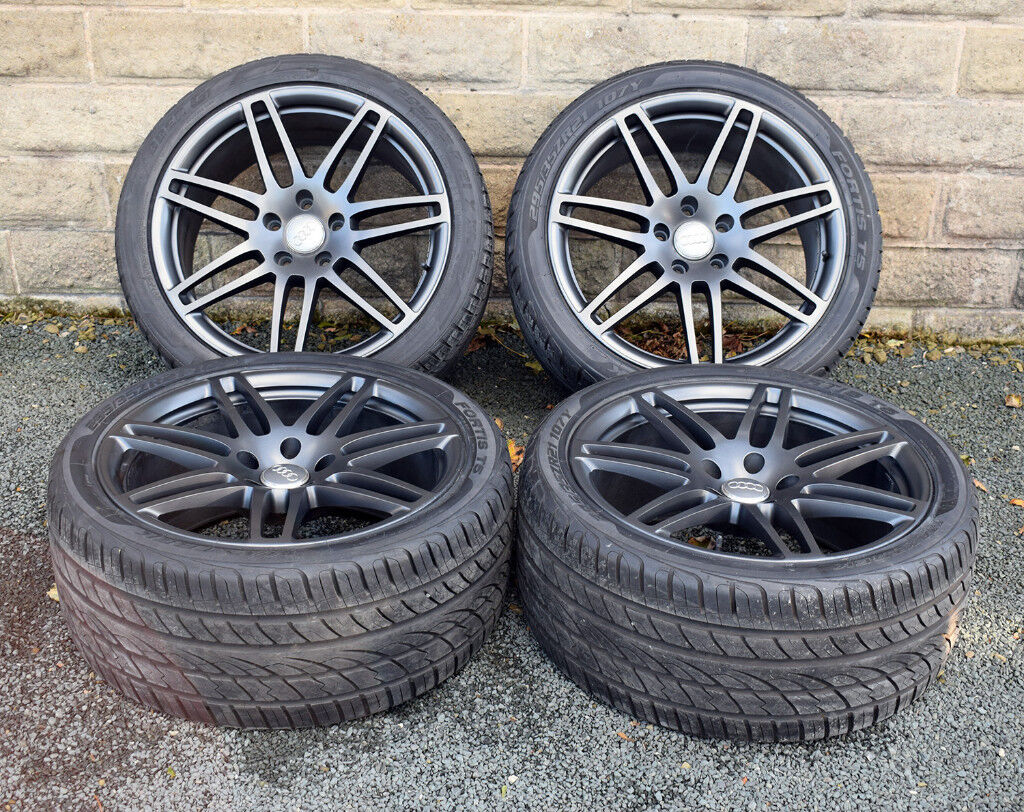 21 Quot Genuine Audi Q7 Alloy Wheels And Tyres Alloys Wheels In Wakefield West Yorkshire Gumtree