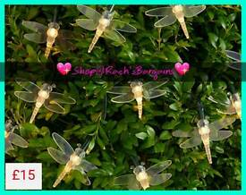 Set of 35 dragonfly string lights