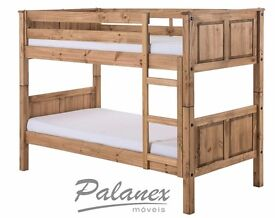 Corona Wax Bunk Bed, Solid Pine, Great Condition, Standard single Bunk Bed