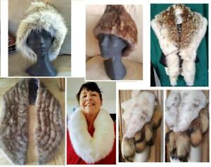 REAL FUR SHEEPSKIN COATS JACKETS HATS MITTS COLLARS Refurbished Vintage & New Womens Mens CUSTOM ORDERS Add Fur trim