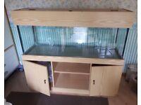 Aquarium + cabinet + filter + heater