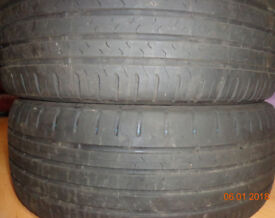 2x Continenlal Tyres off the rims ready to be fitted to your own.