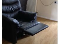 Faux leather armchair x 2