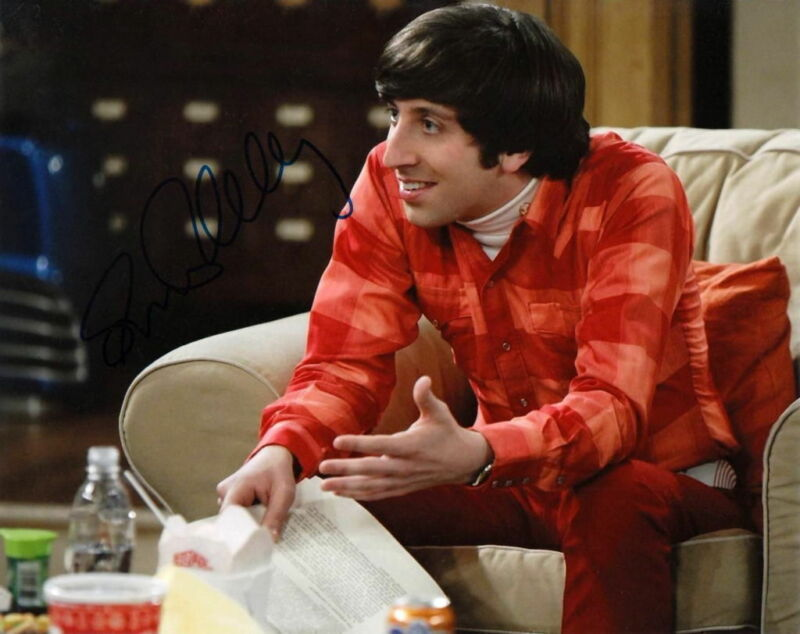 SIMON HELBERG... The  Big Bang Theory - SIGNED