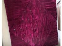 Glitzy Pink velvet Kingsize headboard with diamanté studs