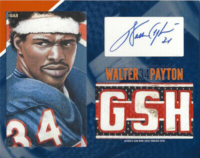 Walter Payton Autographed Signed 8x10 Photo Bears HOF Artist REPRINT Artist Signed Autograph Photo
