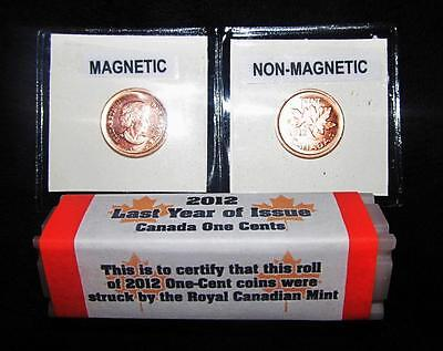 1 Roll of 2012 Canadian Farewell To Pennies Last Year Plus 2 Singles