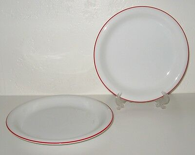 FITZ Floyd Rouleau Red Trim Salad Plate Set of 4 EUC
