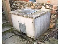 Concrete Coal Bunker