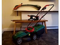 Qualcast electric Lawnmower hedge trimmer and grass trimmer package all work great!! Quick sale