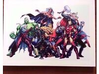 Marvel Comics Canvas with hook attached