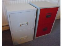 Metal Two Drawer Filing Cabinets - £25 each