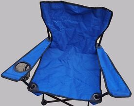 Two childrens foldable chairs small fold away for camping, beach, garden or even kids rooms!
