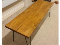 Handmade rustic industrial style reclaimed coffee table