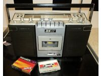 Vintage 1970s Portable Radio Cassette Stereo (Boombox) - Mains/Battery/6v In Ex working condition