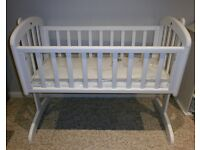 John Lewis Anna Swinging / Rocking Crib with new unused mattress