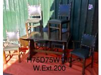 Solid table and chairs. Excellent condition