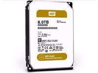 "New 8TB Western Digital WD Gold Datacenter 3.5""Internal Hard Drive Sata 6 Gbps 7200rpm Sealed"