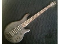 Traben Chaos 4 String Black Satin Bass Guitar in excellent condition for sale