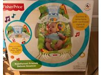 Fisher Price - Rainforest Deluxe Bouncer boxed (like new)