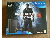 Sony PS4 500GB Slim - Uncharted 4 Bundle - Brand New Sealed