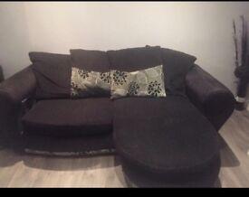 Black l shape sofa for sale can deliver