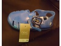 3 pairs blue jelly shoes