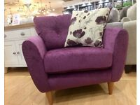 Plum Purple Velvet Arm Chair