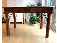 Beautiful Hardwood Desk with Drawers